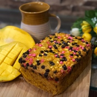 Eggless Mango Cake - Summer Delight