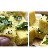 Besan Dhokla | Steamed Gram flour Sweet Savory Cake | My Favorite Breakfast