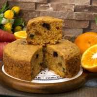 Eggless Whole Wheat Orange Carrot Dry Fruit Cake - Pressure Cooker Cake Recipe