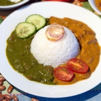 Rajma Curry ( Red Kidney Beans Curry) - Two Ways : Tomato Based Curry & Spinach Based Curry
