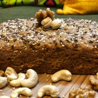 Eggless Whole Wheat Jaggery Cake or Atta Gur Ka Cake - Healthy Cake