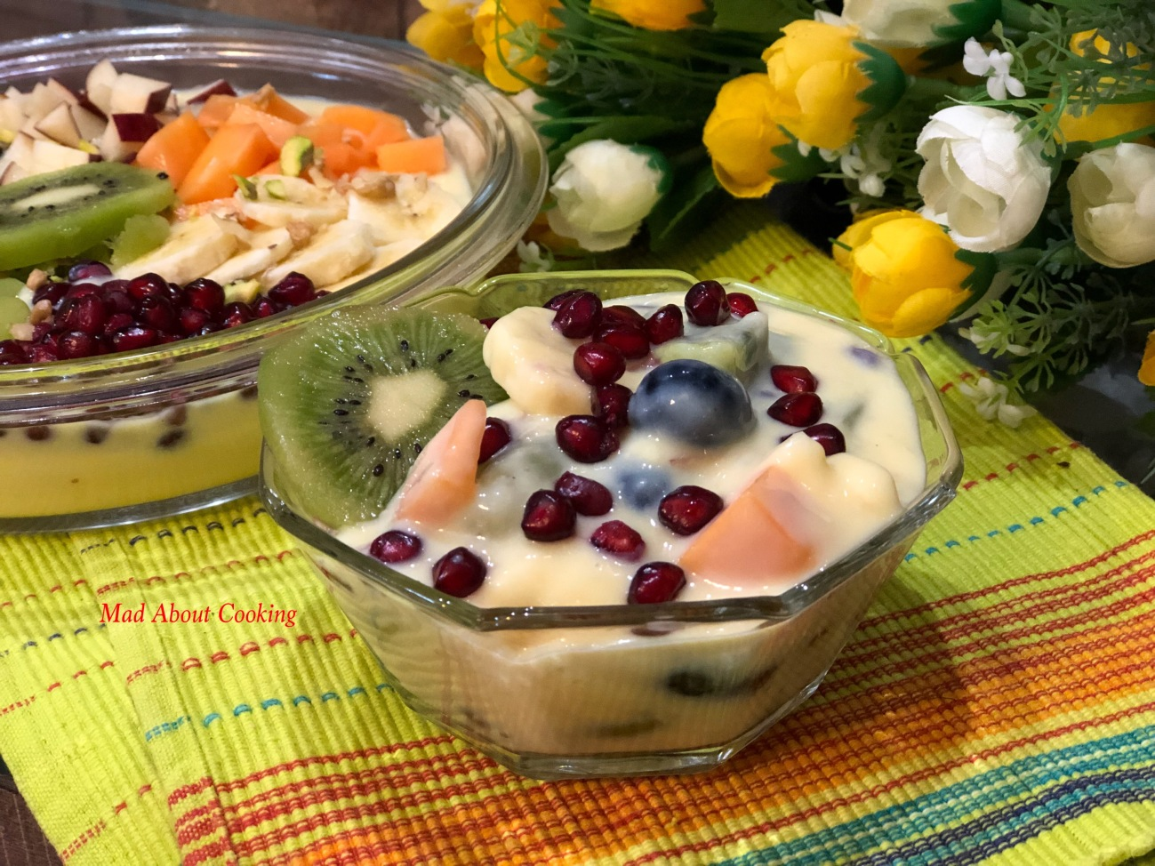 Mixed Fruit Custard My Favorite Dessert Mad About Cooking