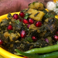 Sweet Potato with Fenugreek Leaves (Methi Sakarakandi Sabzi)