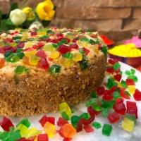 Whole Wheat Tutti Frutti Cake - Holi Special