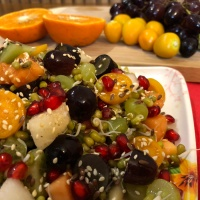 Green Moong Sprouts Fruit Salad - Weight Loss Recipe