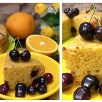 Eggless Cherry Orange Cake | Boiled Orange Cake | Baking With Whole Wheat Flour