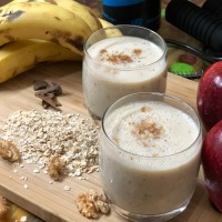 Cinnamon Fruit Smoothie With Oats | Breakfast Smoothie | Fiber Rich Smoothie