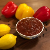 Roasted Capsicum or Bell Pepper Marmalade - Sweet & Spicy Vegetable Spread - Vegetable Marmalade