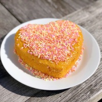 Sunshine Cake | Happy Friendship Day | Sunshine Tea Time Treat | Custard Powder Cake | Eggless Custard Cake