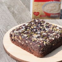 Oats Chocolate Brownies | Eggless No Butter Chocolate Treat | Healthy Chocolate Treat
