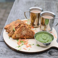 Saturday Spicy Snack  |  No Fried Bread Pakora  |  Tea Time Healthy Snack With Zucchini and Carrot  |  Pan- Fried Bread Pakora