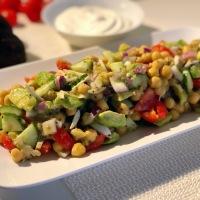 Chickpea Avocado Salad with Kiwi Dressing | Protein Rich Salad | Healthy Salad Recipe