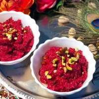 Janmashtami Sweet Dish | Sweet Saturday Surprise | Beetroot Carrot Halwa | Vegetable Dessert | Beetroot Carrot Pudding