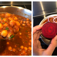 Choley Curry With A Healthy Twist | Beetroot Based Chickpea Curry | चुकंदर छोले करी