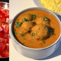 Tomato Based Indian Curry | Zucchini Kofta Curry | Tomato Yoghurt Red Curry | No Fried Kofta