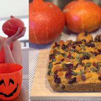 Eggless Whole Wheat Pumpkin Raisins Cake | Made With Pumpkin Jam | Autumn Theme Cake